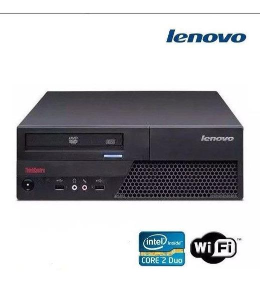 Cpu Desktop Lenovo Core 2 Duo 2gb Ddr3 Hd 160g Leitor Wifi