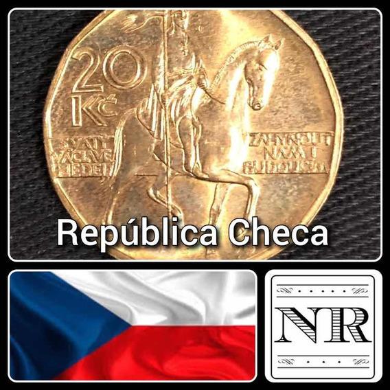 Republica Checa - 20 Korunas - Año 2002 - Km # 5 - Caballero