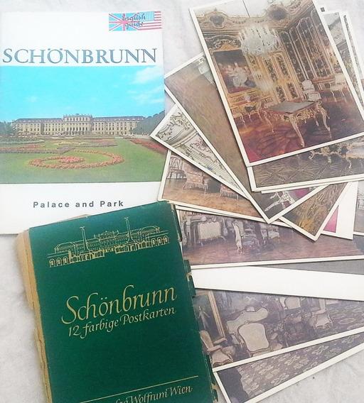 Palacio De Schonbrunn 12 Postales Antiguas + Guia Y Plano