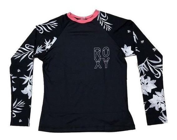 Camiseta De Lycra Roxy Bicolys Juvenil Original + Nf