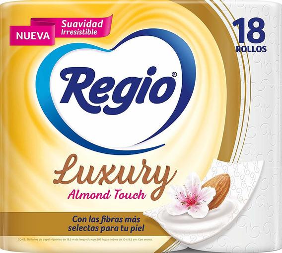 Papel Higiénico Regio Luxury Almond Touch 18 Rollos