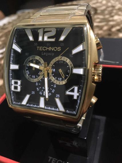 Relógio Technos Qz Pulseira Dourada