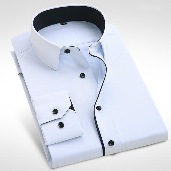 Camisa Branca Masculina Premium Camisa Social Slim Fit