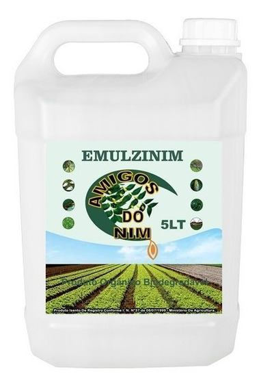 Neem Oleo Nim Vegetal Emulsionado Tomate Morango Alface 5 L