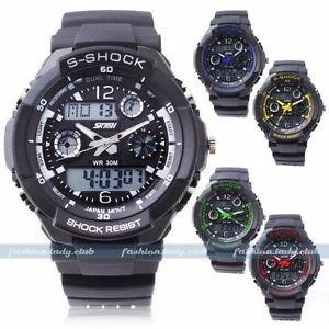 Relógio S-shock Preto Led Digital & Analógico Militar