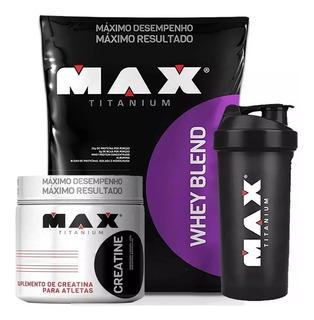 Whey Protein Blend 2kg + Creatina Pure 300g - Max Titanium