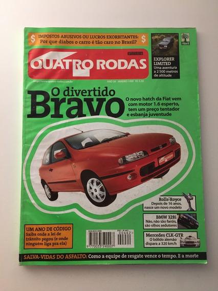 Quatro Rodas 462 Janeiro 1999- Bravo Bmw 328i Explorer Marea