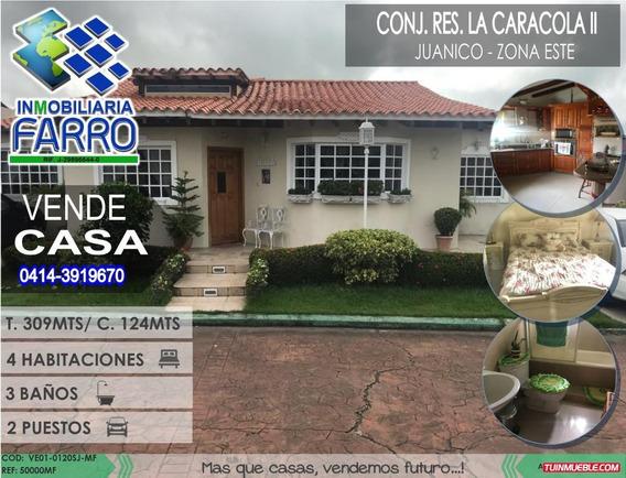 Venta De Casa En Juanico Urb La Caracola Ii Ve01-0120sj-mf