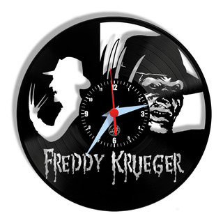 Relógio De Parede Vinil - Freddy Krueger Terror Filme