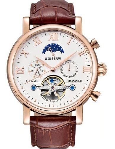 Relógio De Luxo Automático Binssaw Ry0978 Multifuncional