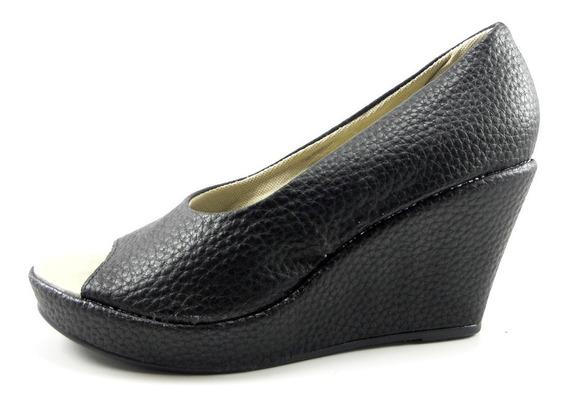 Zapato De Dama Taco Chino Boca De Pez Punta Abierta