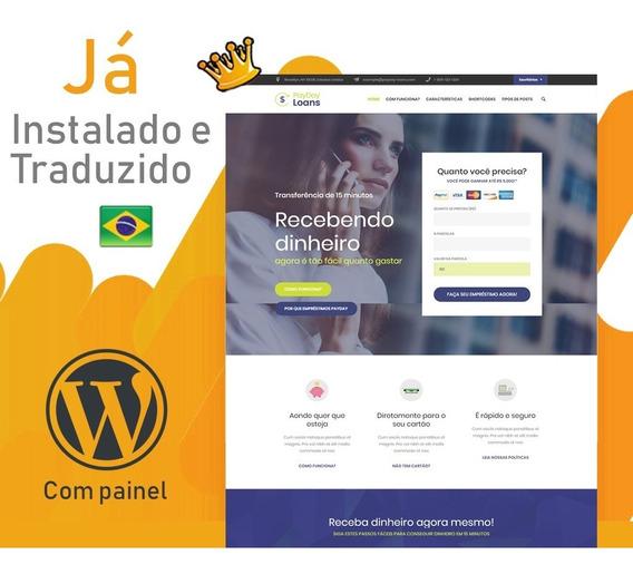 Site Wordpress Para Empréstimos, Financeiras, Seguradoras