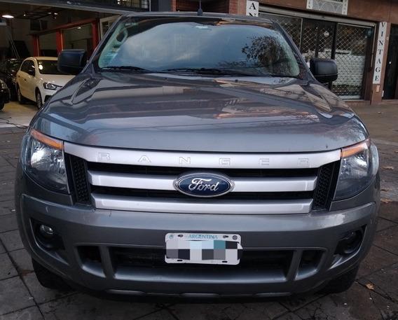 Ford Ranger 3.2 Xls 4x4 2015 Gris Unica Mano