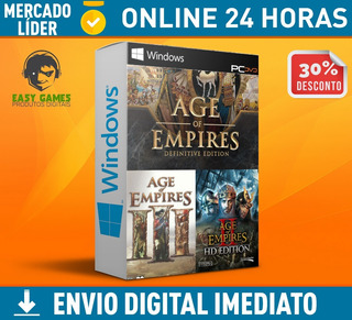 Pack Age Of Empires Contendo: Definitive Edition + 2 Hd + 3