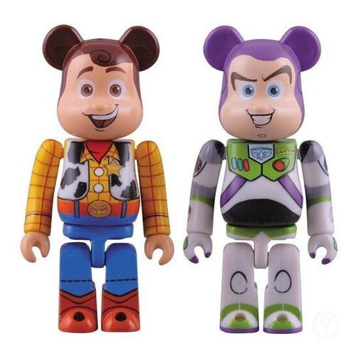 Imagen 1 de 4 de Medicom Bearbrick Be@rbrick Toy Story 3 Woody Buzz Lightyear
