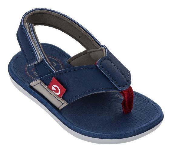 Chinelo Infantil Cartago 11400 - Cinza/azul