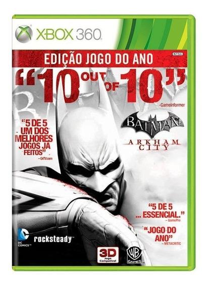 Batman Arkham City Xbox 360 Mídia Física Pronta Entrega
