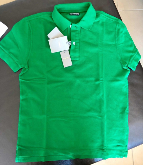 Polo Tom Ford Piqué Verde Original M (con Caja)