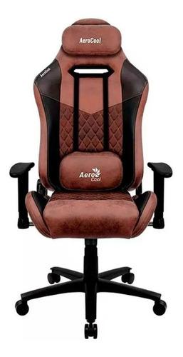 Imagen 1 de 3 de Silla de escritorio AeroCool Duke gamer ergonómica  punch red con tapizado de gamuza y cuero sintético