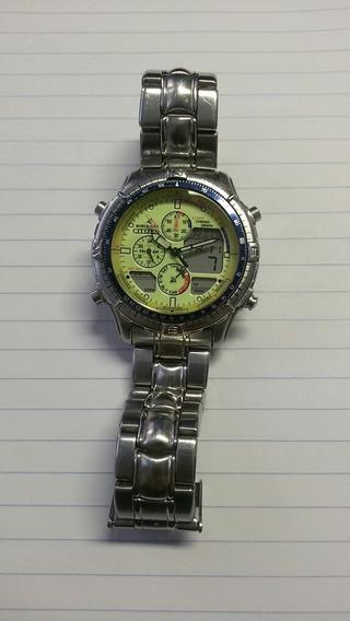 Relógio Citizen Promaster Navisurf C320 Fundo Fluorescente