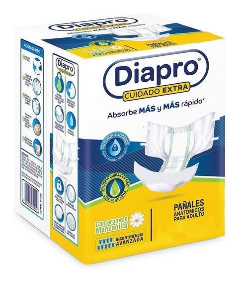 Pañal Para Adulto Diapro Confort G 10pzas