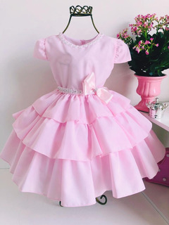 Vestido Bela Adormecida Princesa Aurora Rosa Cód. 843