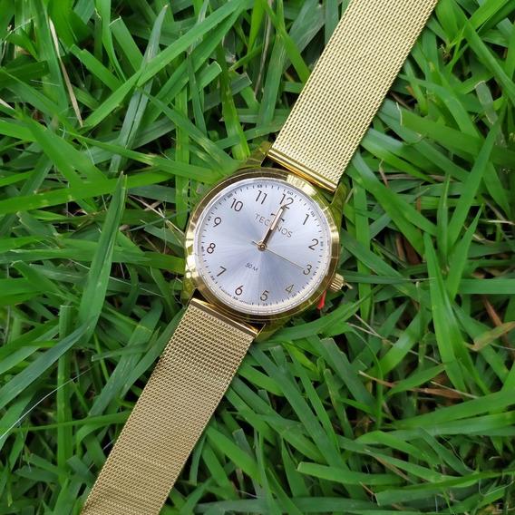 Relógio Feminino Dourado Technos 2035mkl C/ Nf Original