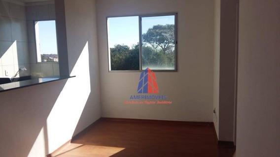 Apartamento Com 2 Dormitórios Para Alugar, 45 M² Por R$ 700/mês - Residencial Spazio Beach - Chácara Letônia - Americana/sp - Ap0918
