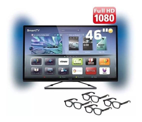 Tv Philips 46 Polegada 3d Bem Conservada