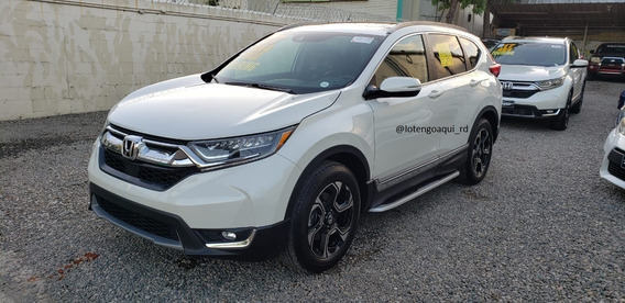 Honda Cr-v Touring 2017 Blanco Clean Carfax