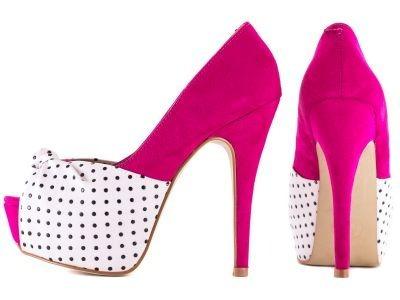 Sapato Peep Toe,na Cor Pink E Com 13,5 Cm De Altura