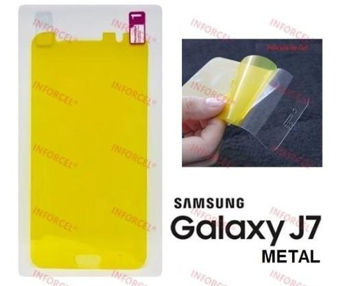 Película Silicone Gel Cobre A Tela Toda Galaxy J7 Metal J710