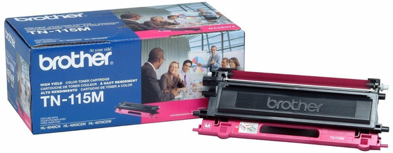 Toner Brother Tn115 Magenta Original Hl4040 Hl4070 Mfc9440