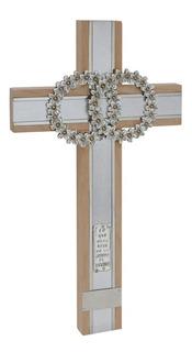 Jorvina / Cruz De Matrimonio Plata Con Piedra Swarovsky