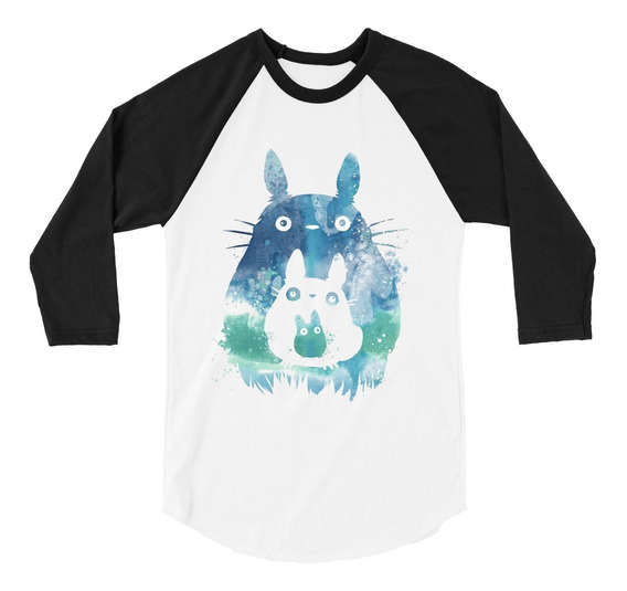 Playera Raglan 3/4 Mi Vecino Totoro Art