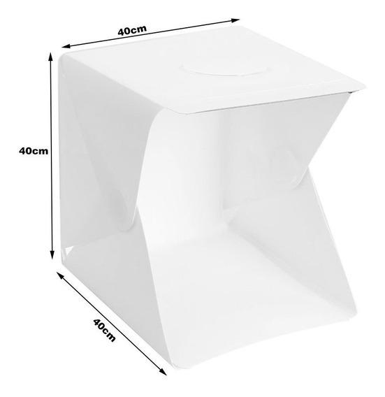 Estudio Grande Fotografico Portatil 40x40x40 Cm Cubo Luz Led Plegable Para Todo Tipo De Productos