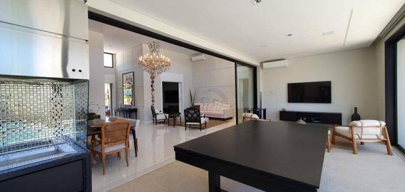 Casa Térrea Nova E Mobiliada Com 4 Suítes À Venda Por R$ 3.200.000 - Jardim Residencial Helvétia Park Ii - Indaiatuba/sp - Ca11345
