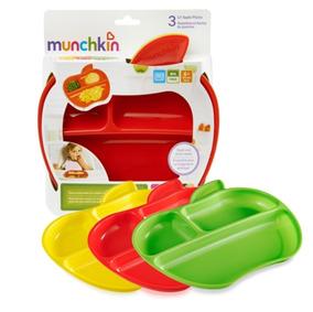 Pratos Para Bebê Munchkin Lil Apple 3 Peças.