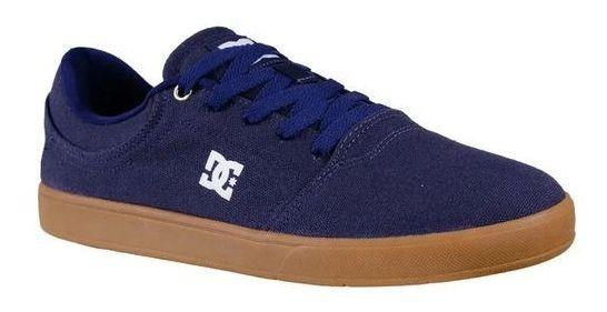 Tênis Dc Original Skate Azul E Caramelo