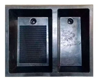 Lavadero Plástico Lap3 100x80cm Negro Accesorio Hogar Romano