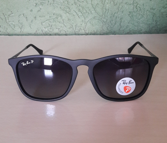 Ray Ban Chris Rb4187 Preto Polarizado Original Importado