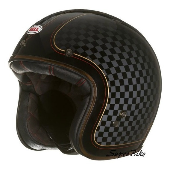 Capacete Aberto Bell Custom 500 Check It Café Race/custom