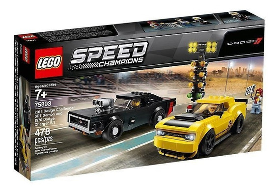 Lego Speed Champions Dodge Challenger Srt Y Charger 75893