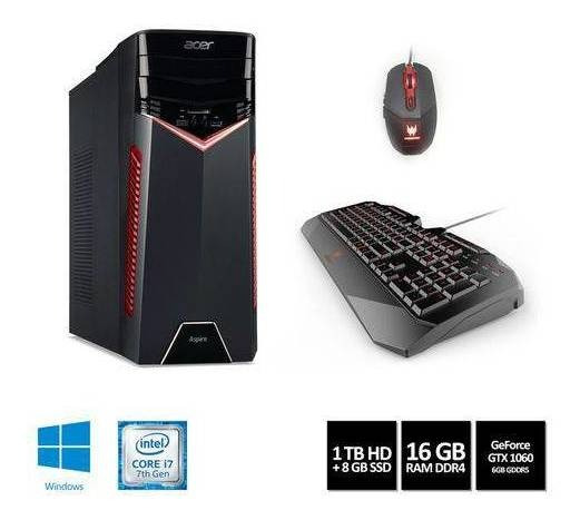 Desktop Gamer Acer Aspire Gx-783-br13 Intel Core I7 16gb 1tb