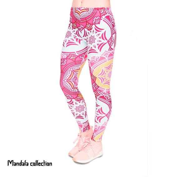 Leggins Mandala Rosas Yoga Meditacion Gym