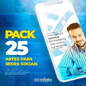 Pack 25 Artes - Redes Sociais - Facebook - Instagram E Etc