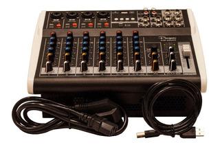 Consola Potenciada Parquer 8ch 48v Sd Usb Bt Grabacion A Pc