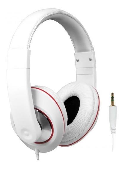 Fone De Ouvido Headphone Branco Controle De Volume No Cabo