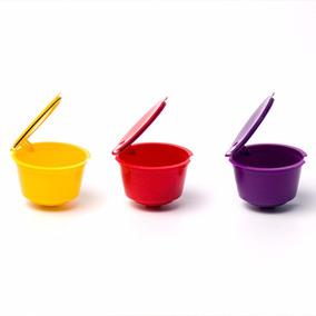 Roxo Recarregáveis Plástico Reutilizável Cápsula Dos Filtros
