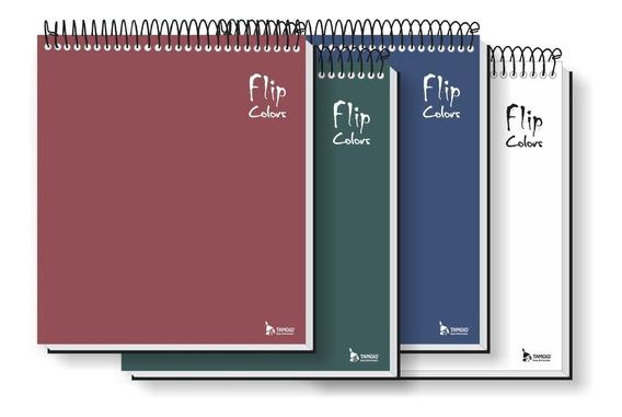 Kit - 5 Cadernos Para Canhoto 10 Matérias C/ 4 Cores Tamoio